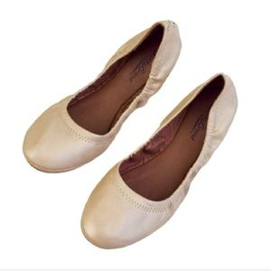 Lucky Brand Emmie Shimmer Nude Leather Flats